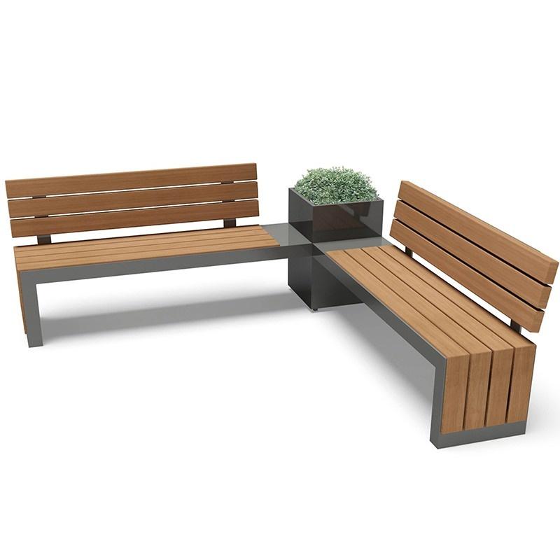 户外防腐木公园椅