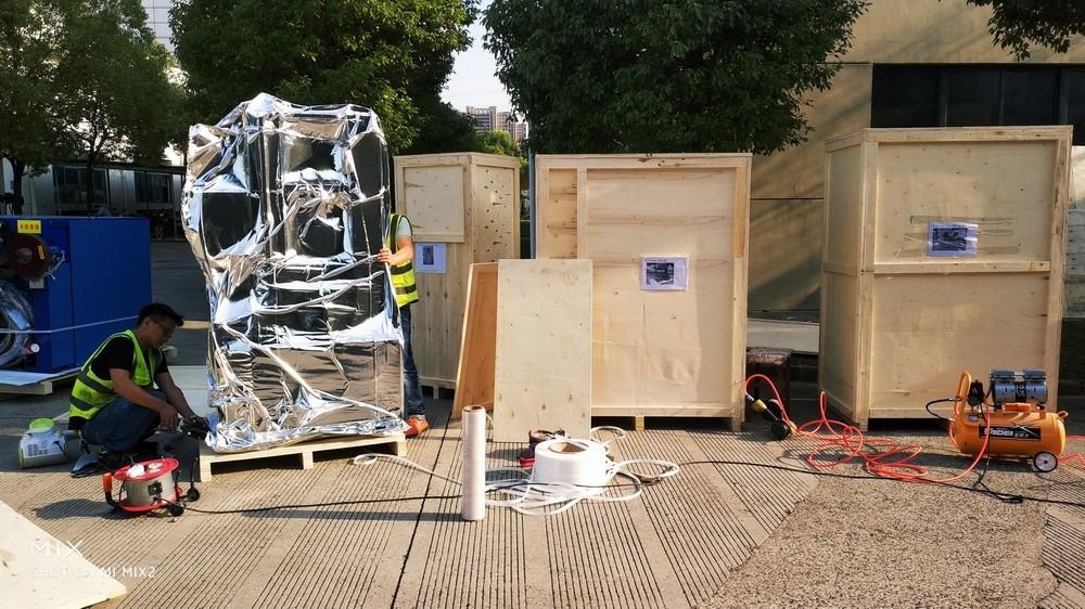 出口设备真空包装木箱制作