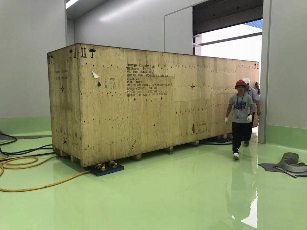 无尘环氧地车间设备气垫搬运