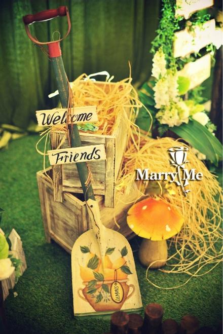 森系风主题婚礼 走进