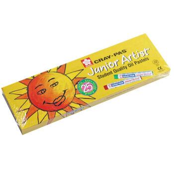 樱花SAKURA 儿童油画棒套装 儿童绘画软蜡笔 小太阳黄色包装 25色套装XEP25M