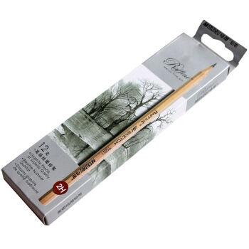 马可原木绘图铅笔 素描铅笔 儿童写字铅笔 12支纸盒包装 7001 2B