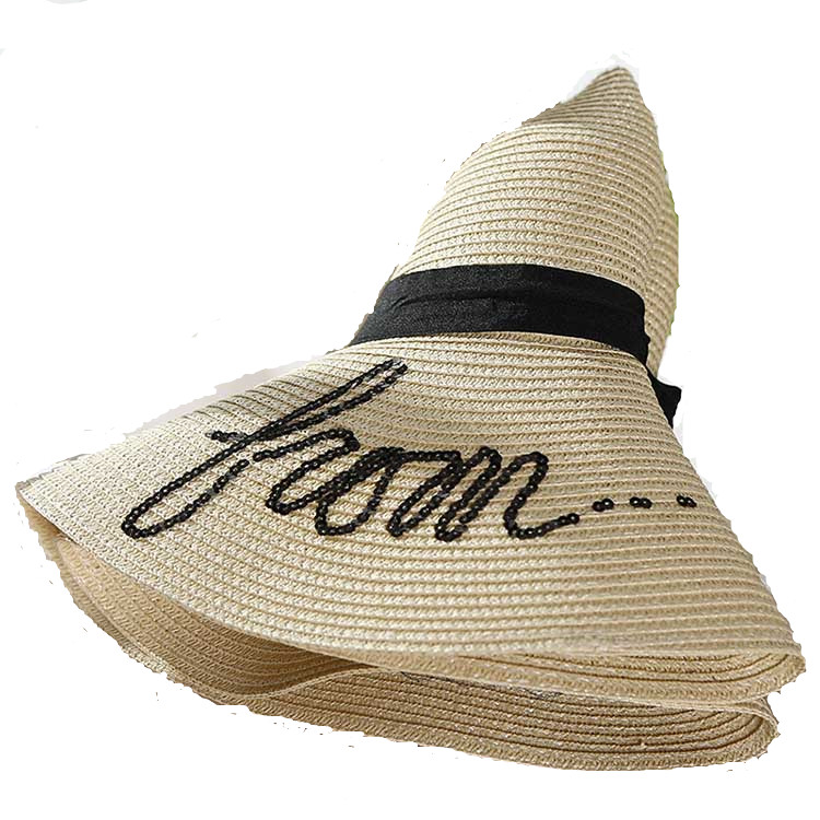 Women's Beach Printed  Foldable Straw Hat