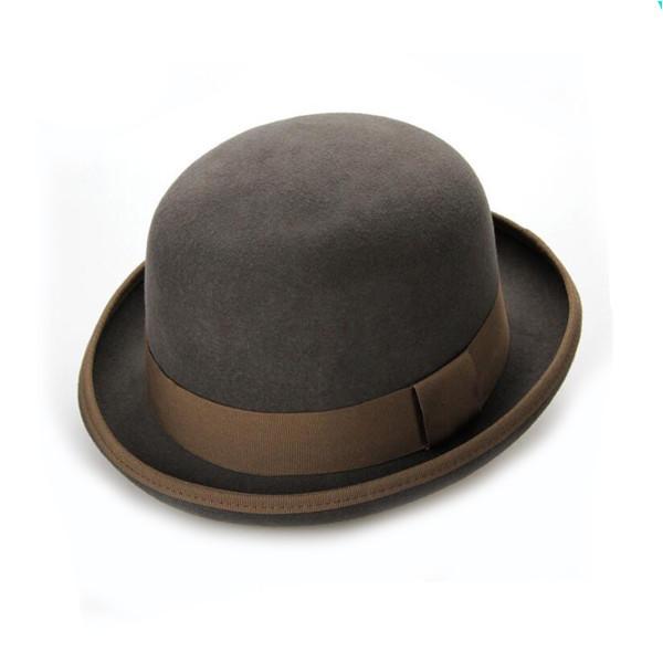 round winter womens wool felt hats