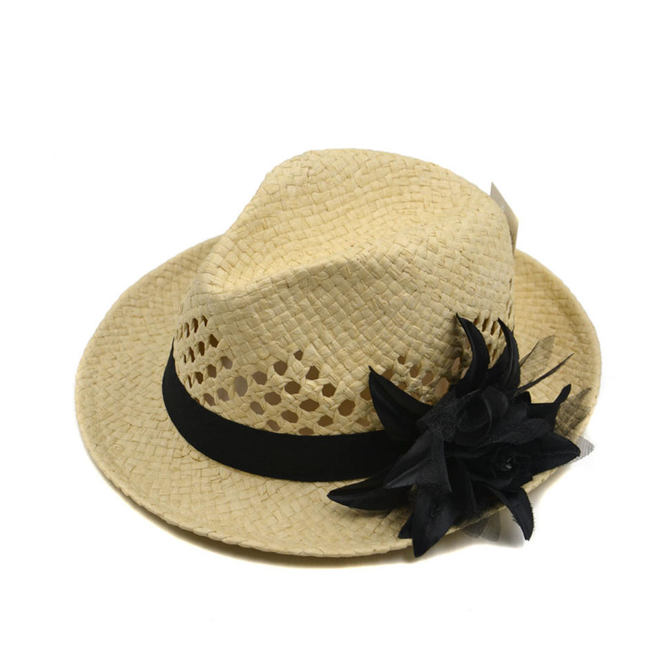 paper fedora hats women with flower