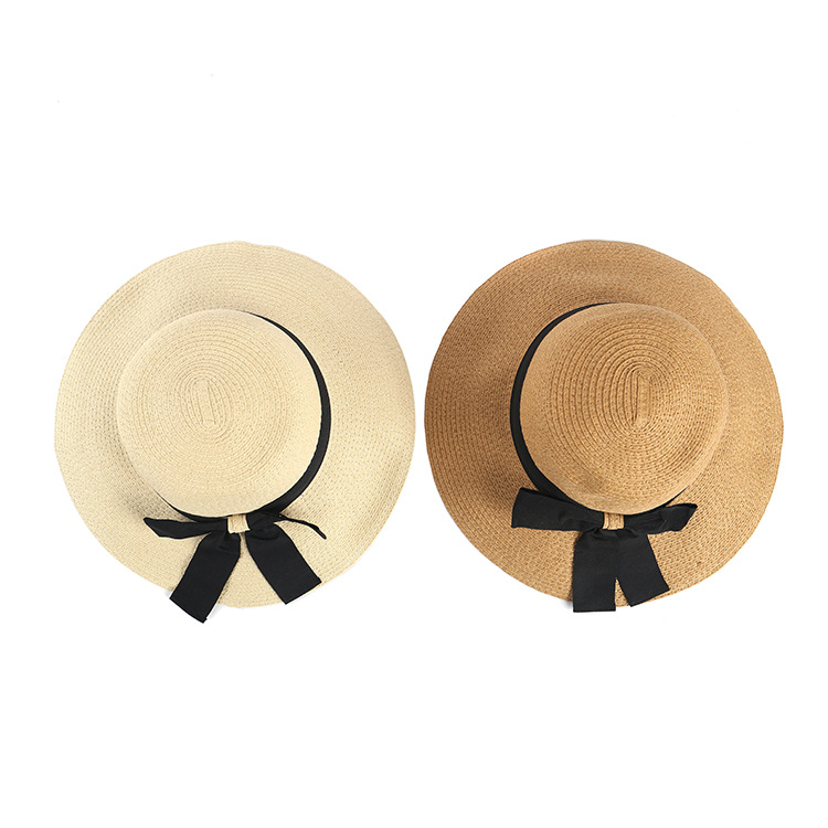 women straw bucket cloche wide brim hat summer custom bucket hat with bowknot
