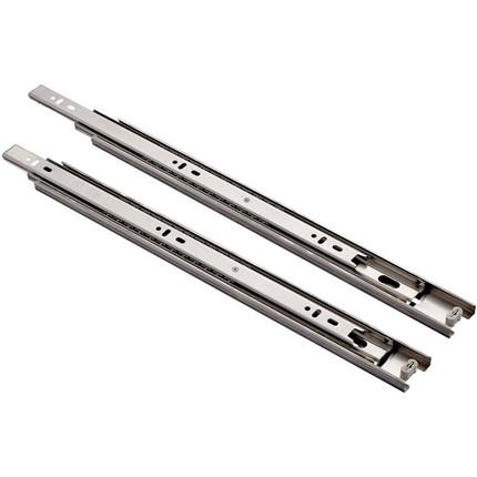 固特抽屉轨道静音导轨实心滚珠三节轨滑道不锈钢滑轨