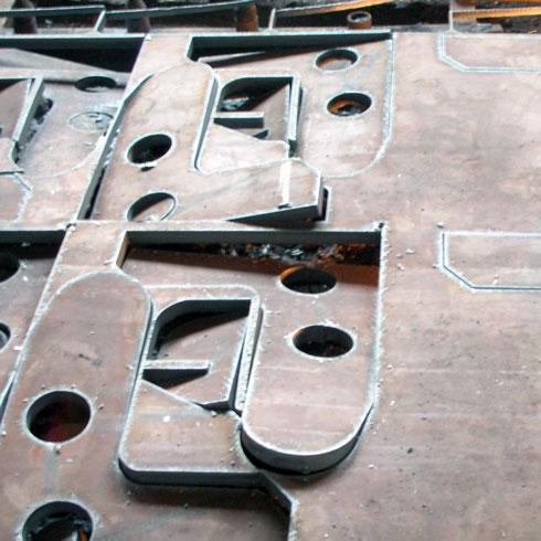 低合金钢板切割法兰轴承座