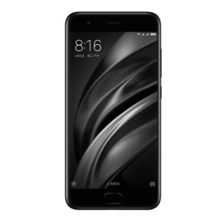 小米6 全网通 6GB+64GB 亮黑色 移动联通电信4G手机 双卡双待