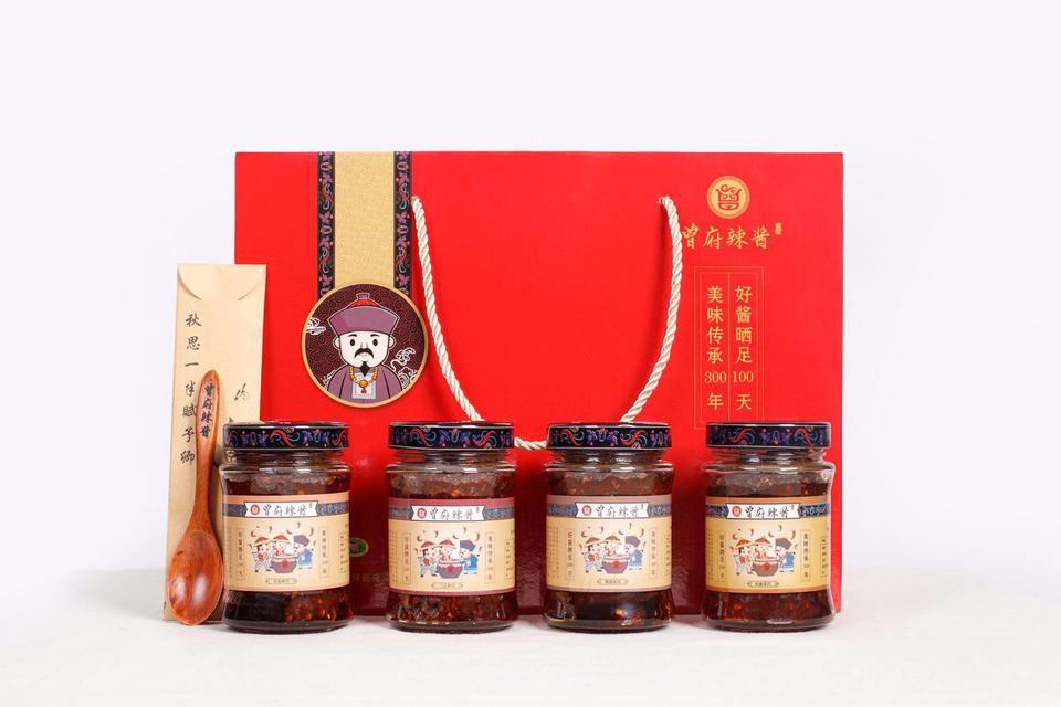 【曾府辣酱】永丰辣酱精品礼盒装(258克辣酱4瓶+限量版文创产品)