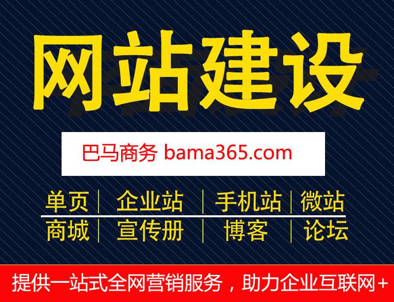巴马公司网站建设(免备案网站建设,送域名!企业网站/商城/微店/网店)