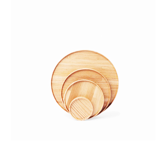 简约原木餐盘
